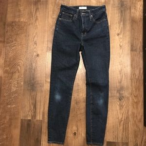 Madewell Curvy High Rise Skinny Jeans Size 28